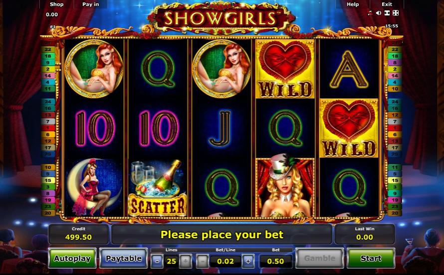 Игровой автомат Showgirls